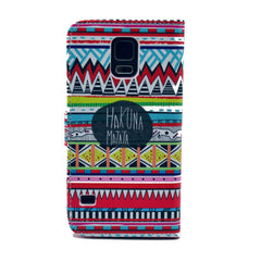 Matata Stand Leather Case For Samsung S5 - BoardwalkBuy - 3