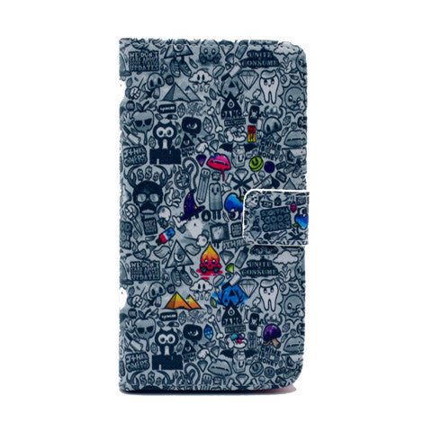 Comic Stand Leather Case For Samsung S5