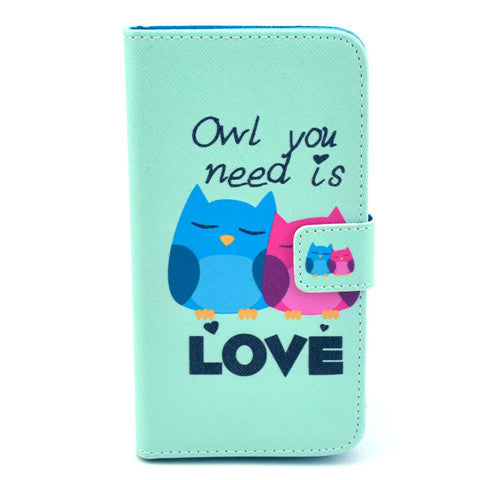 Love  Stand Leather Case For Samsung S5