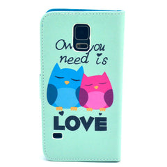 Love  Stand Leather Case For Samsung S5 - BoardwalkBuy - 3