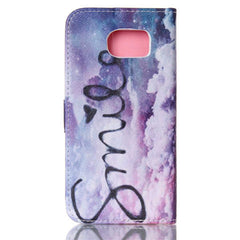 Purple Smile Stand Leather Case For Samsung S6 - BoardwalkBuy - 4
