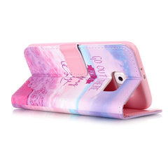 Pink Stand Leather Case For Samsung S6 - BoardwalkBuy - 3