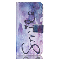 Purple Smile Stand Leather Case For Samsung S6 Edge - BoardwalkBuy - 1