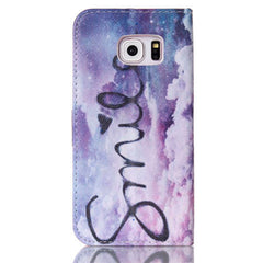 Purple Smile Stand Leather Case For Samsung S6 Edge - BoardwalkBuy - 4