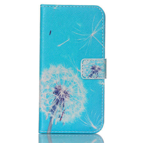 Dandelion Stand Leather Case For Samsung S6 Edge