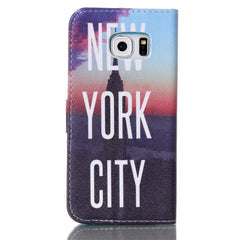New York Stand Leather Case For Samsung S6 Edge - BoardwalkBuy - 4
