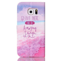 Pink Stand Leather Case For Samsung S6 Edge - BoardwalkBuy - 4
