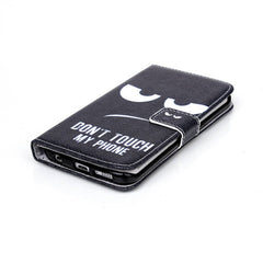 Black Eyes Stand Leather Case iPhone and Samsung - BoardwalkBuy - 2