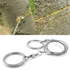 Silver Steel Wire Saw Emergency Outdoor Survival Tool - BoardwalkBuy - 1