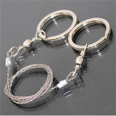 Silver Steel Wire Saw Emergency Outdoor Survival Tool - BoardwalkBuy - 3