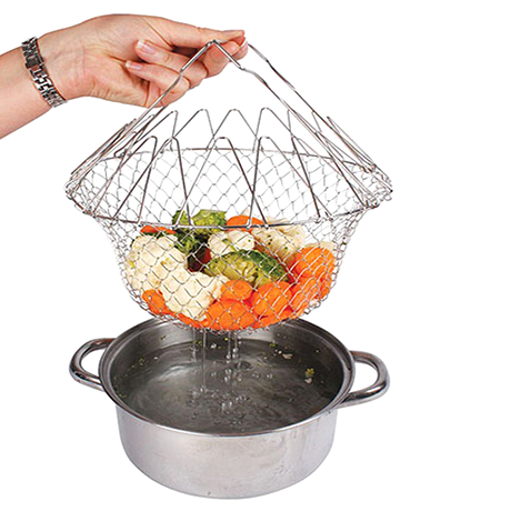 Stainless Steel Expandable Cooking Basket - BoardwalkBuy - 1