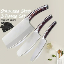Load image into Gallery viewer, Stainless Steel Kitchen Knives Set, Comfortable Handle Made From Resin Fibers