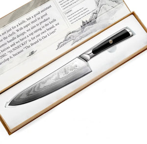 "Professional 8"" Damascus Steel Chef's Knife - Japanese VG10 Core Blade"