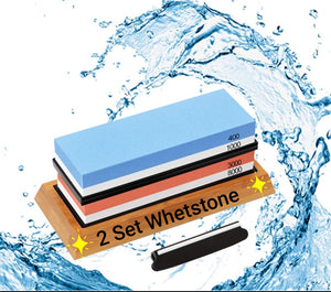 2 Piece Knife Sharpener Set - Professional Whetstone Sharpening Stone