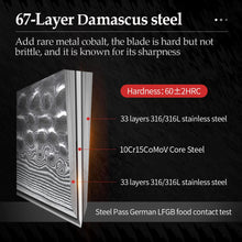 Load image into Gallery viewer, Damascus Knives Set - 67 Layer Damascus Steel