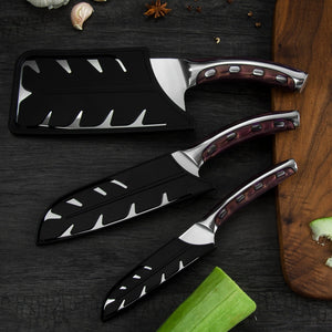 Stainless Steel Kitchen Knives Set, Comfortable Handle Made From Resin Fibers
