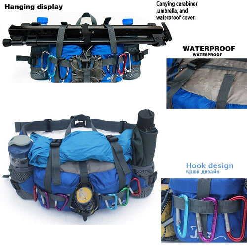 Professional 800D Outdoor Hiking Waist Pack - Bicycle Bits