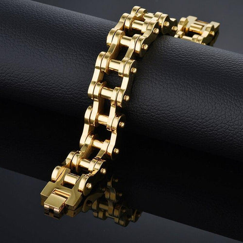 Heavy Chain Gold Plated Bracelet - Bicycle Bits