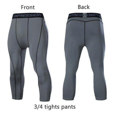 Men's 3/4 Compression Leggings - Bicycle Bits