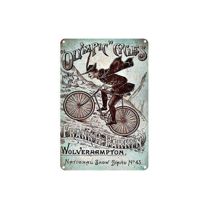 Cycle Tin Sign - Parkyn - Bicycle Bits