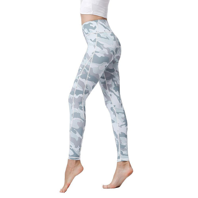 High Waist Printed Stretch Leggings - Bicycle Bits