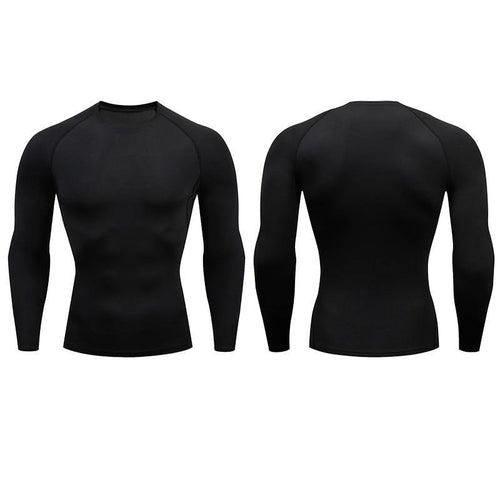 Men Compression Long Sleeve T-Shirt - Bicycle Bits
