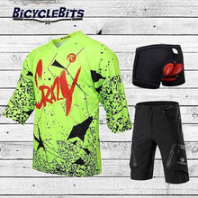 Load image into Gallery viewer, Mid Sleeve Crazy MTB Shirt and Short Set - Bicycle Bits