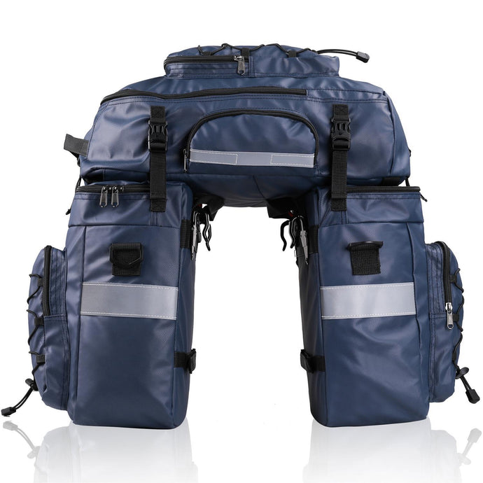 3 in 1 65Ltr Waterproof Pannier Set