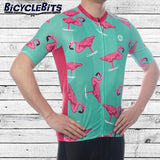 Mens Flamingo Cycling Jersey - Bicycle Bits