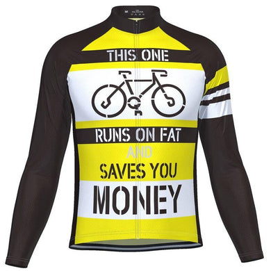 Save Money Long Sleeve Cycling Jersey - Bicycle Bits