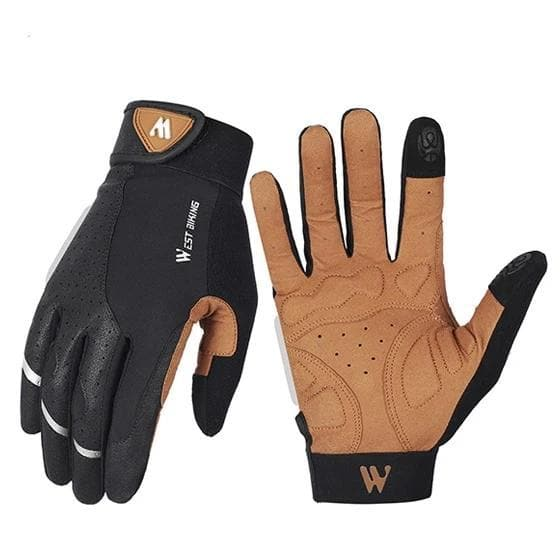 Bicycle Bits Anti-slip Shock Absorbing Full Finger Cycling Gloves