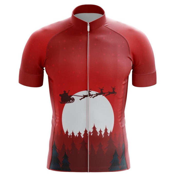 Men's Sleigh Silhouette Short Sleeve Cycling Jersey - Bicycle Bits