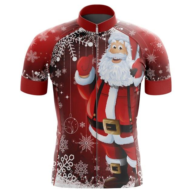 Men's Christmas Santa Clause Cycling Jersey - Bicycle Bits