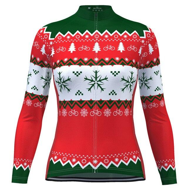 Women's Long Sleeve Christmas Jumper Cycling Jersey
