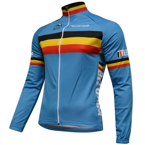 Long Sleeve Belgium Cycling Jersey - Bicycle Bits