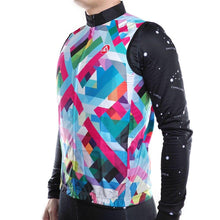 Load image into Gallery viewer, Geometric Daisy Windstopper Sleeveless Cycling Jacket - Bicycle Bits
