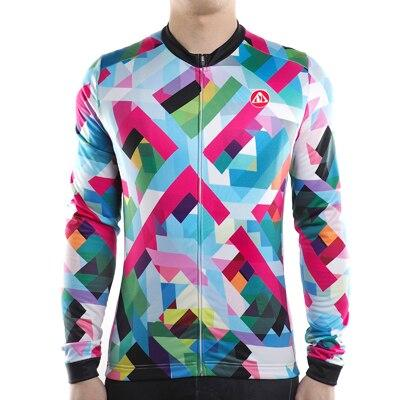 Men's Geometric Long Sleeve Jersey - Bicycle Bits
