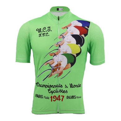 Paris Piste 1947 Retro Cycle Jersey