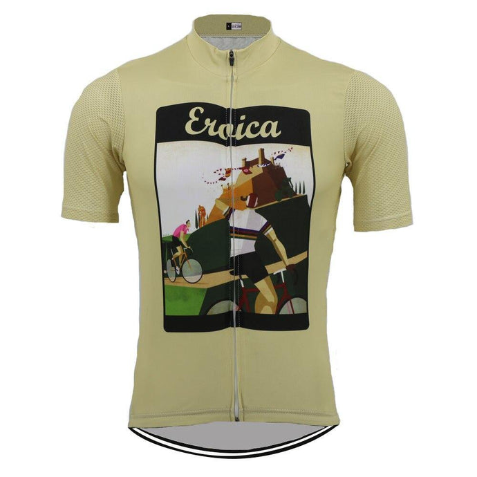 Eroica Beige Retro Jersey - Bicycle Bits