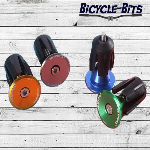 Bicycle Bits Aluminum Alloy Handlebar End Plugs Adjustable Grip Caps