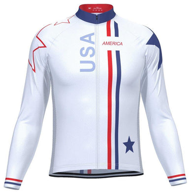 USA Long Sleeve Cycling Jersey - Bicycle Bits