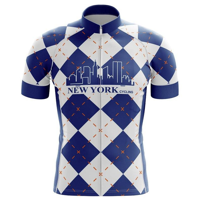 Men's New York Lattice Cycling Jersey - Bicycle Bits