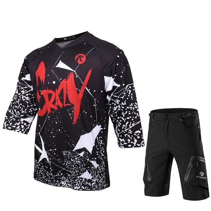 Mid Sleeve Crazy MTB Shirt and Short Set - Bicycle Bits