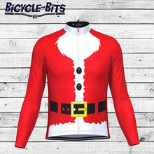 Load image into Gallery viewer, Men's Long Sleeve Santa Beard Cycling Jersey - Bicycle Bits