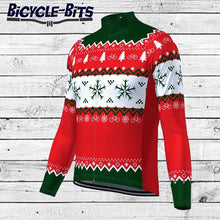 Load image into Gallery viewer, Men's Long Sleeve Christmas Jumper Cycling Jersey - Bicycle Bits
