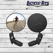 Load image into Gallery viewer, Bicycle Bits Adjustable Rotatable Bicycle Rear View Glass Mirror