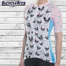 Load image into Gallery viewer, Women's Pug Cycling Jersey - Bicycle Bits