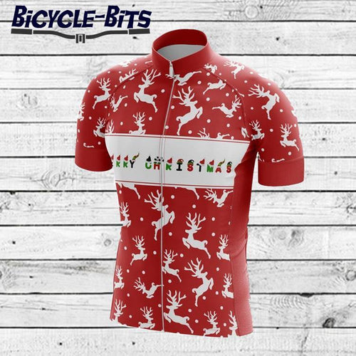 Men's Reindeer Short Sleeve Cycling Jersey - Bicycle Bits