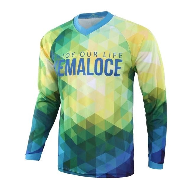 Triangles Long Sleeve MTB Jersey