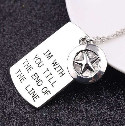 Stainless Steel Star Remembrance Pendant/Necklace Necklace MSM Jewelers